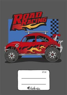 """Zošit, A5, štvorčekový, 32 listov, VICTORIA, """"Road Racing"""", """"27-32"""""""