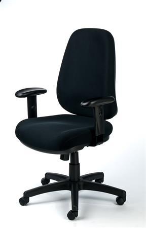 """fc28f3d18bd86 Kancelárska stolička, nastaviteľné opierky rúk, exkluzívny čierny poťah,  čierny podstavec, MAYAH """""""