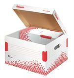 """Archívny kontajner, M veľkosť, recyklovaný kartón, ESSELTE """"Speedbox"""", biely"""
