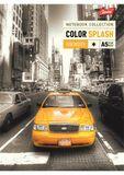 """Špirálový zošit, A5, linajkový, 96 listov, UNIPAP """"Color Splash"""""""