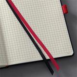 """Poznámkový blok, exkluzívny, A4, štvorčekový, 194 strán, tvrdá obálka, SIGEL """"Conceptum Red Edition"""", čierno-červený"""