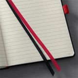 """Poznámkový blok, exkluzívny, A4, linajkový, 194 strán, tvrdá obálka, SIGEL """"Conceptum Red Edition"""", čierno-červený"""