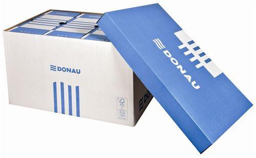 Archívny kontajner, 545x363x317 mm, kartónový, DONAU, modrý-biely