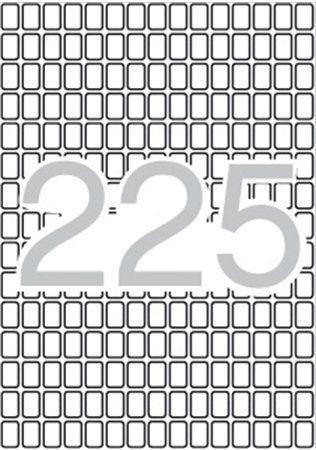 Etikety, 8x12 mm, zaoblené rohy, na liste formátu A5, APLI, 3375 etikiet/bal