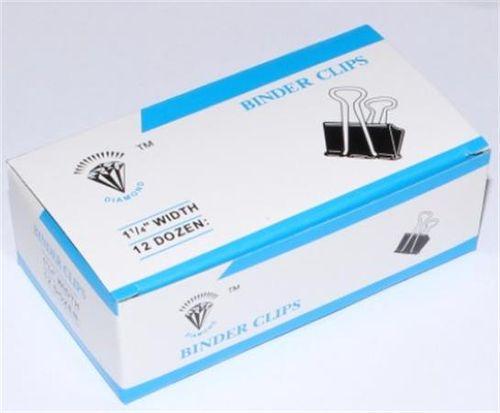 Klipy na dokumenty, 32 mm, čierne