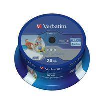 BD-R Verbatim 25GB, 6x, wide printable cake/25
