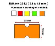 Cenové etikety Cola-ply 22x12 mm oranžové
