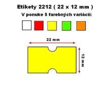Cenové etikety Cola-ply 22x12 mm žlté