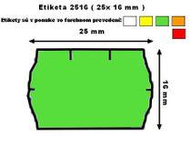Cenové etikety Contact 25x16 mm zelené