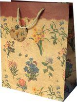 Darčeková taška, klasická, 11,4x6,4x14,6 cm, kvety