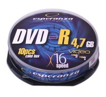 DVD-R Esperanza 16x cake/10 ks