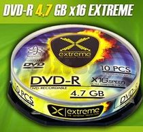 DVD-R Extreme 4,7 GB, 16x , cake-10 ks