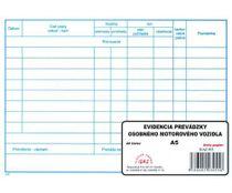 Evidencia prevádzky osobného motor. vozidla (A5/20 listov)