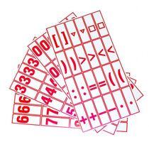Karty s číslicami a znakmi, I. tr.