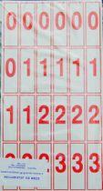 Karty s číslicami a znakmi, II-IV. tr.