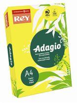 """Kopírovací papier, farebný, A4, 160 g, REY """"Adagio"""", intenzívny žltý"""