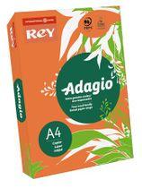 """Kopírovací papier, farebný, A4, 80 g, REY """"Adagio"""", intenzívny oranžový"""