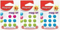 Magnetky, okrúhle, 10 mm, MAPED, mix farieb