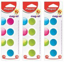 Magnetky, okrúhle, 22 mm, MAPED, mix farieb
