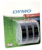 páska DYMO 3D Black Tape (9mm) 3ks