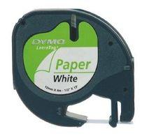 páska DYMO 59421 LetraTag White Paper Tape (12mm)