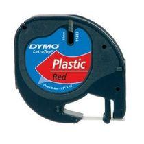 páska DYMO 59424 LetraTag Red Plastic Tape (12mm)