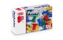 Pripináčky, farebné, 10mm, 100 ks/bal, ICO