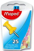 Pripináčky, farebné, 10mm, 25 ks/škatuľa, MAPED