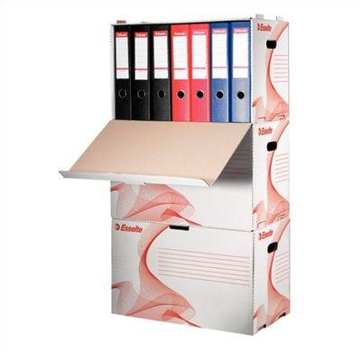 """Archívny kontajner, na šanóny, kartónový, ESSELTE """"Standard"""", biely"""