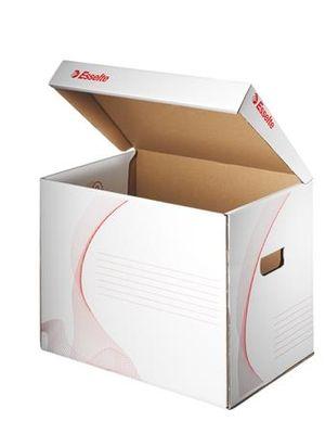 """Archívny kontajner, otváranie veka smerom nahor, ESSELTE """"Standard"""",  biely"""
