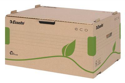 """Archívny kontajner, recyklovaný kartón, dopredu otvárateľné veko, ESSELTE """"Eco"""", hnedý"""
