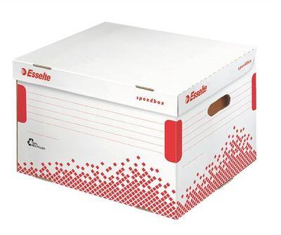 """Archívny kontajner, recyklovaný kartón, otváranie smerom nahor,  ESSELTE """"Speedbox"""", biely"""