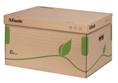 """Archívny kontajner, recyklovaný kartón, s otváraním zhora,  ESSELTE """"Eco"""", hnedý"""