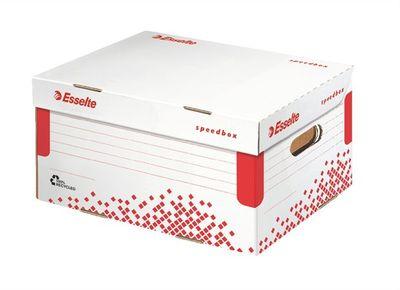 """Archívny kontajner, S veľkosť, recyklovaný kartón, ESSELTE """"Speedbox"""", biely"""