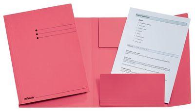 Doska na spisy, s chlopňami, prešpánová, A4, ESSELTE, ružová