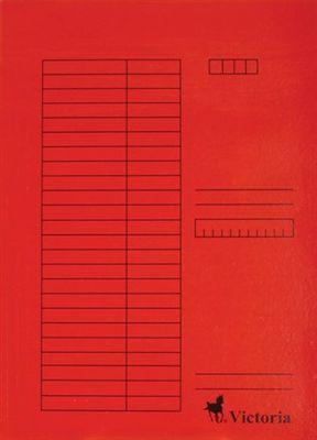Doska s chlopňami, kartón, A4, VICTORIA, červená