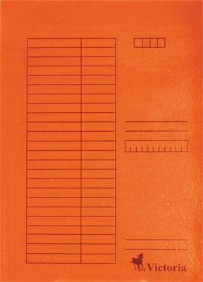 Doska s chlopňami, kartón, A4, VICTORIA, oranžová
