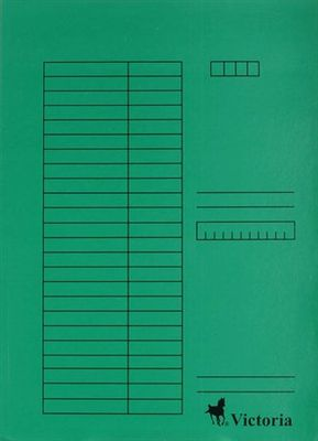 Doska s chlopňami, kartón, A4, VICTORIA, zelená