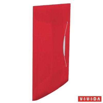 """Doska s gumičkou, 15 mm, PP, A4, ESSELTE """"Vivida"""", červená"""