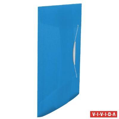 """Doska s gumičkou, 15 mm, PP, A4, ESSELTE """"Vivida"""", modrá"""