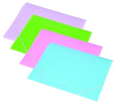 Doska s gumičkou, 15 mm, PP, A4, PANTA PLAST, pastelová ružová