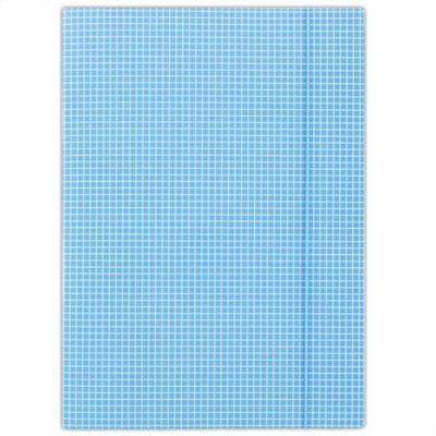Doska s gumičkou, kartónová, A4, kockovaná, DONAU, modrá
