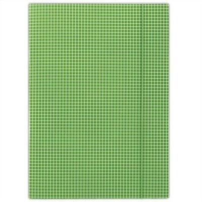 Doska s gumičkou, kartónová, A4, kockovaná, DONAU, zelená