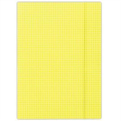 Doska s gumičkou, kartónová, A4, kockovaná, DONAU, žltá