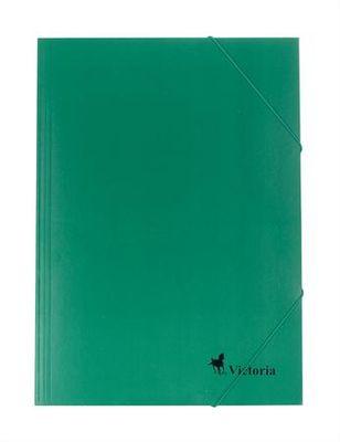 Doska s gumičkou, kartónová, A4, VICTORIA, zelená