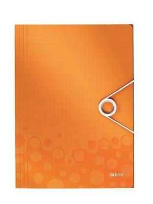 """Doska s gumičkou, PP, A4, LEITZ """"Wow"""", oranžová"""