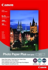 Fotopapier, Canon SG-201, 10x15 cm/260g/50 ks, pololesklý