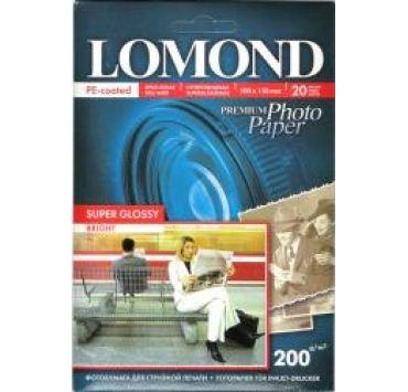 Fotopapier, extra lesklý, 200g, 10x15 cm, 20 ks, Bright (Lomond)