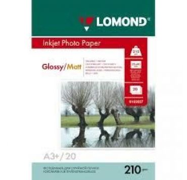 Fotopapier, lesklý/matný 210g/m2, A3+/50 ks, obojstranný(Lomond)