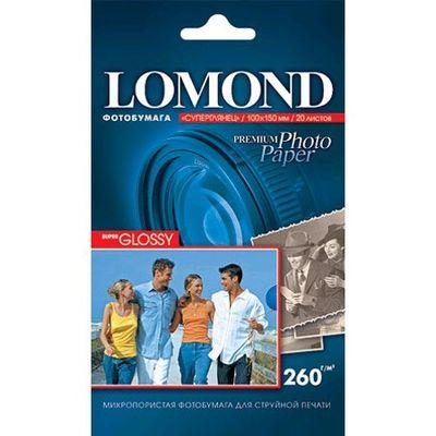 Fotopapier, extra lesklý, 260g, 10x15 cm, 20 ks, Bright (Lomond)